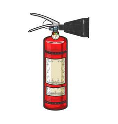Fire extinguisher sketch engraving vector