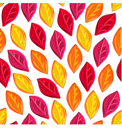 floral seamless pattern with fallen leaves autumn vector image