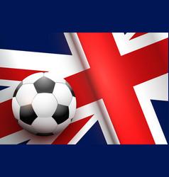 Football ball and british flag vector