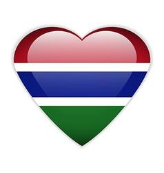 Gambia flag button vector
