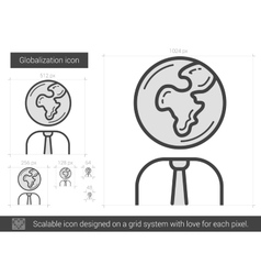 Globalization line icon vector
