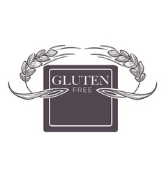 Gluten free products poster with wheat vector