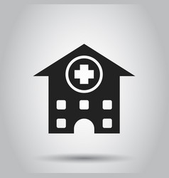 hospital building icon infirmary medical clinic vector image
