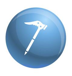 Ice axe icon simple style vector