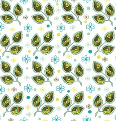 Leaves Endless Seamless Pattern vector image