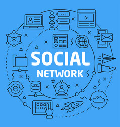Linear social network vector