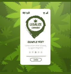 Medical natural cannabis or marijuana leaf on vector