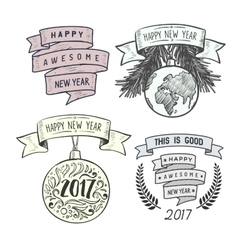 Merry Christmas badges design vector image