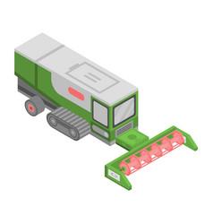 modern farm machine icon isometric style vector image