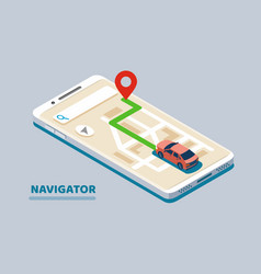 Modern isometric navigation vector