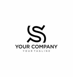 Monogram s logo vector