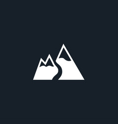 Mountain snow icon simple vector