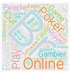 Online poker rooms text background wordcloud vector
