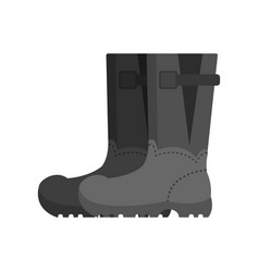 Pair of gray rubber boots safety shoes vector
