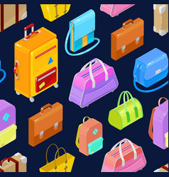 pattern of colorful isometric bags vector image