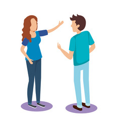 persons couple isometric avatars vector image