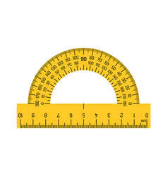 protractor scale measuring rulers vector image
