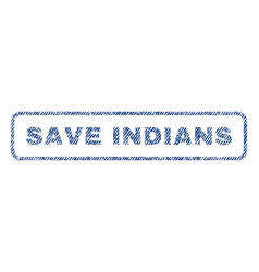 Save indians textile stamp vector