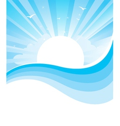 Seascape nature vector image