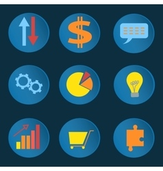 Set informative business icons vector