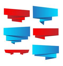 set of bright ribbons vector image