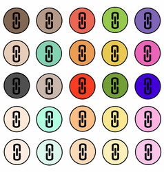 set of link connection buttons - internet icons vector image
