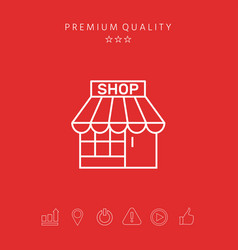shop icon symbol vector image