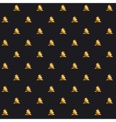 Simple elegant christmas tree seamless pattern vector