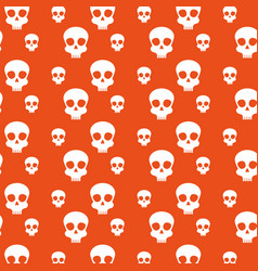 skull background to celebrate day of the dead vector image