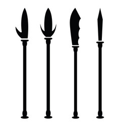 spear icon set vector image
