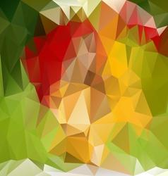 Spring green polygonal triangular pattern vector