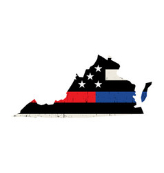 state virginia police and firefighter support vector image