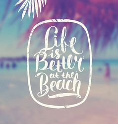 Summer hand drawn calligraphy vector image