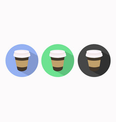 Take away coffee icon set vector