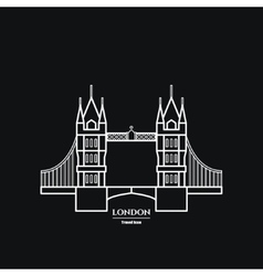 Tower bridge Icon vector image