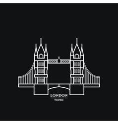 Tower bridge Icon vector