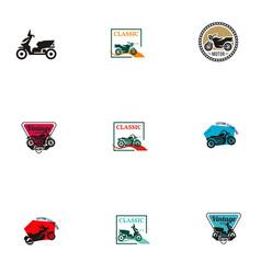 Vintage motorcycle logo vector