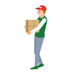Volunteer help box icon flat style vector