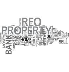 why buy an reo text word cloud concept vector image