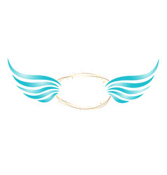 abstract angel frame vector image vector image