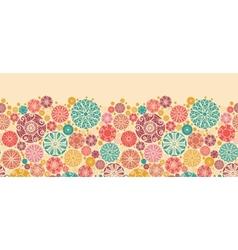Abstract decorative circles horizontal seamless vector image