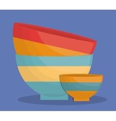bowl dishware icon image vector image