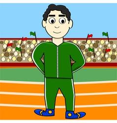 Cartoon athlete vector image vector image
