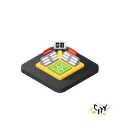 Isometric football field icon building city vector image vector image
