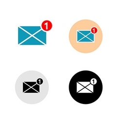 New mail message icon vector image