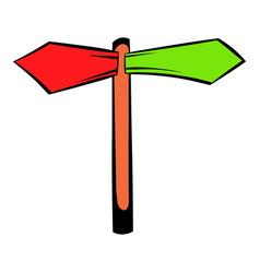 direction signs icon icon cartoon vector image