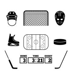 Hockey icons vector image vector image