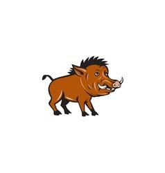 Razorback side cartoon vector