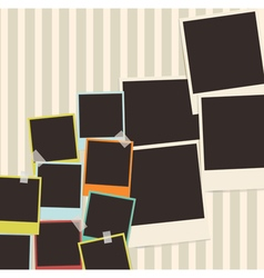 retro photo composition vector image vector image