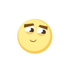 set of emoticons set of emoji smile icons vector image vector image